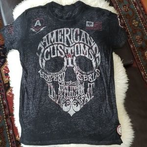 Affliction American Customs mens t shirt